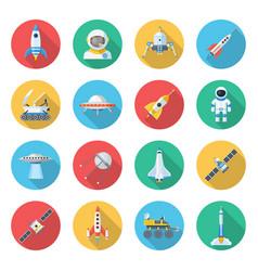 space ship icon set vector image