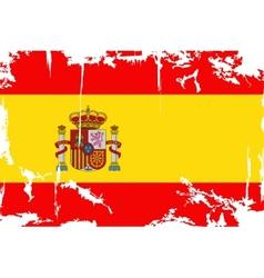 Spanish grunge flag vector