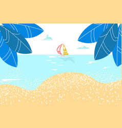summer rest sea landskape paradise sandy shore vector image