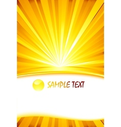 sunburst card template vector image