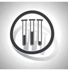 Test-tubes sign sticker curved vector image
