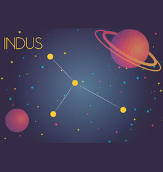 The constellation indus vector
