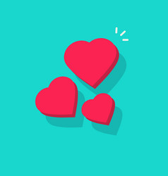 three hearts flowing in air vector image