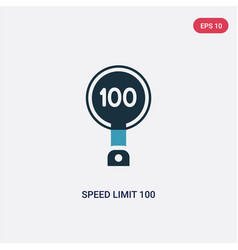 Two color speed limit 100 icon from signs concept vector