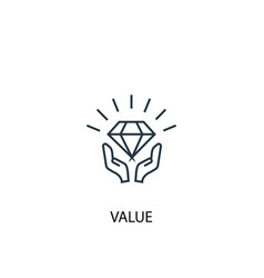 value concept line icon simple element vector image