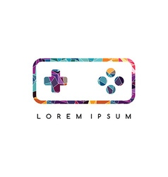video game console logotype logo abstract colorful vector image
