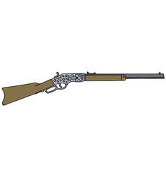 Vintage american rifle vector image