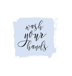 Wash your hands ink watercolor icon vector