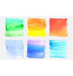 watercolor banner set color square smear vector image