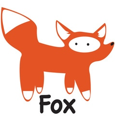 White Tailed Fox vector