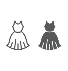 woman dress line and glyph icon female and vector image