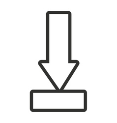 black and white arrow pointing down vector image vector image