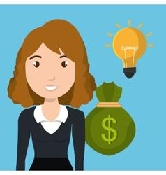 character bag money idea vector image
