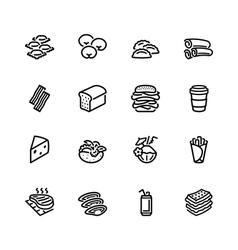Food icon set vector