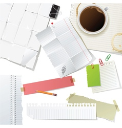 great office supplies and paper set vector image