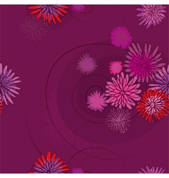 pattern of the pink flowers vector image vector image
