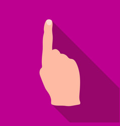 raised index finger icon in flat style isolated on vector image vector image