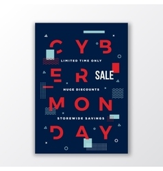Swiss Style Cyber Monday Sale Poster Minimal vector image