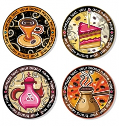 coffee tea drink coasters vector image vector image