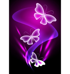 Fantasy transparent butterfly vector image vector image