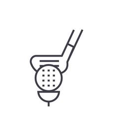 golf flat line concept vector image