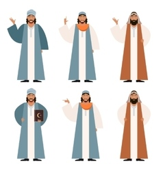 Set of Muslims2 vector image