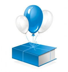 thick book on balloon vector image vector image