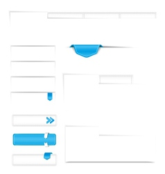 ui elements for web vector image vector image