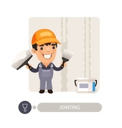 Worker dub wall joints vector