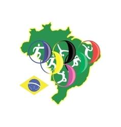 brasilia sport 2016 vector image