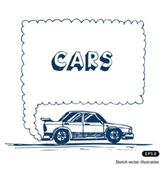 Car blowing exhaust speech bubble vector