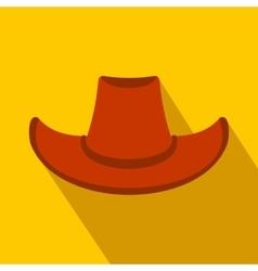 Cowboy hat flat icon vector image vector image