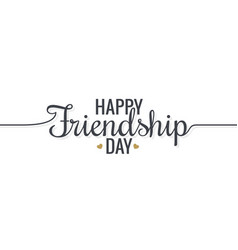 friendship day lettering logo design background vector image vector image