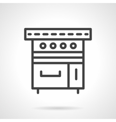 Kitchen stove black line design icon vector image