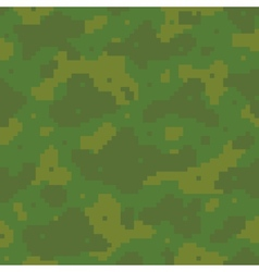 Pixel art army pattern vector image