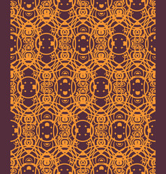 seamless pattern with geometric ornament round vector image vector image