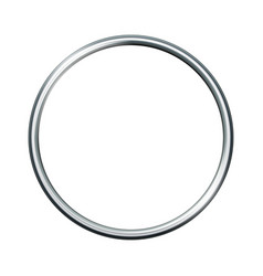 silver metal ring isolated on white background vector image vector image