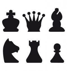 chessmen symbols vector image vector image