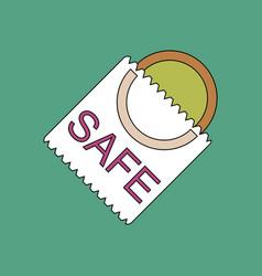 Flat icon design collection safe condom vector