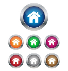 Home buttons vector image