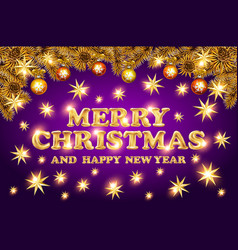 luxury elegant merry christmas holiday background vector image