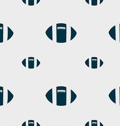rugby ball icon sign Seamless pattern with vector image