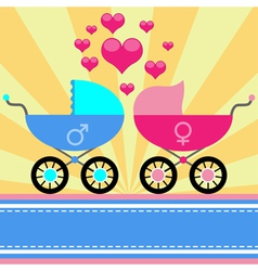 stroller for baby vector image vector image
