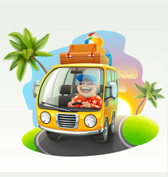summer vacation trip vector image vector image