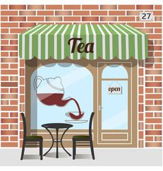 tea shop facade vector image vector image