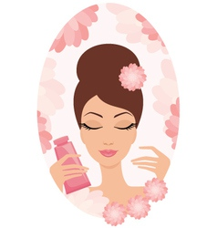young cosmetics set vector image