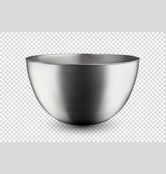 3d realistic blank steel chrome silver vector image