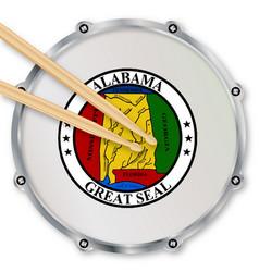 Alabama snare drum vector