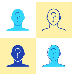 anonymity concept icon set in flat and line style vector image