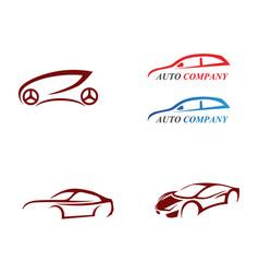 auto car logo template icon vector image